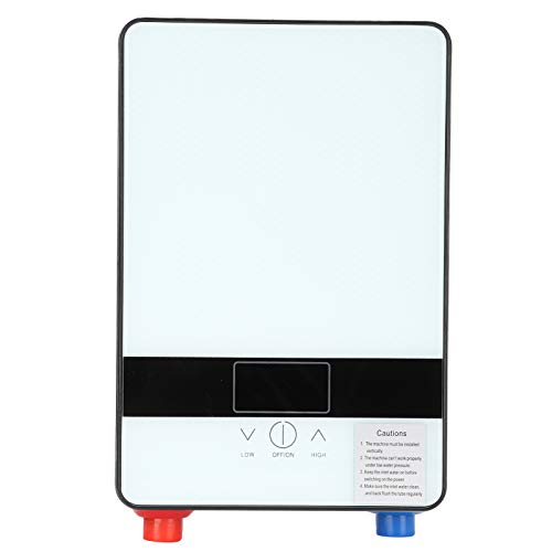 Electric Water Heater 4500W Instant Wall Mounted Water Heater Household Supplies 110V for Home(A)