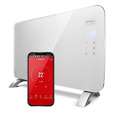 gridinlux. Homely WiFi Warm 1500W. Radiador Cristal Eléctrico, Calefacción...