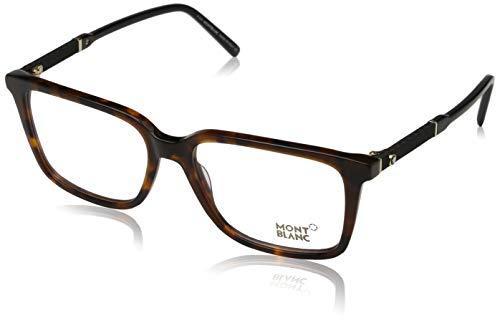 Montblanc Mont Blanc Brillengestelle Mb0675 Monturas de gafas, Multicolor (Mehrfarbig), 55.0 para Hombre