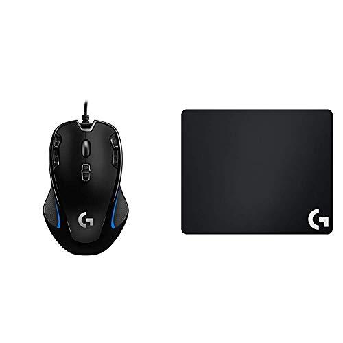 Logitech G300s Optical Gaming Maus + Logitech G240 Gaming Mauspad