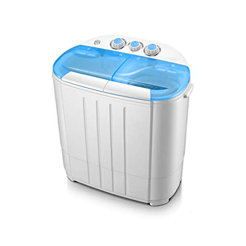 QHW Lavatrice semiautomatica a Doppio Secchio per Uso Domestico, Tutto Il Materiale plastico impedisce la deformazione Facile da Usare, può Contenere 3,8 kg di Vestiti