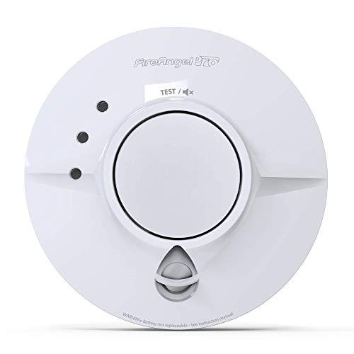 Fireangel FP1640W2-R Pro Smoke Alarm, Mains rookmelder, met netvoeding, 10 jaar looptijd en draadloze verbinding