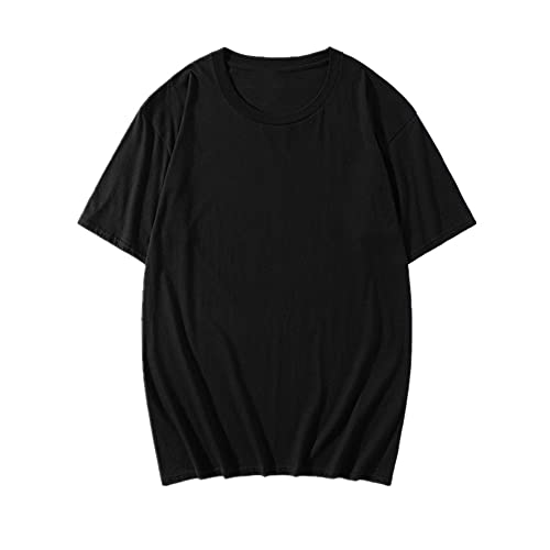 N\P Primavera y verano cuello manga corta camiseta color sólido hombres y mujeres desgaste top