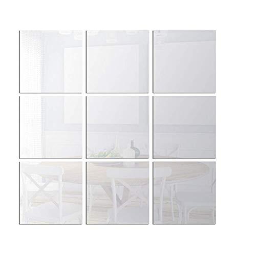 jieqing Spiegel Zum Aufkleben Auf Schrank Wallpaper for Living Room Wandtattoos Wohnzimmer Spiegel Wand Nette Schlafzimmer Decor Schlafzimmer Wand Spiegel 9pcs