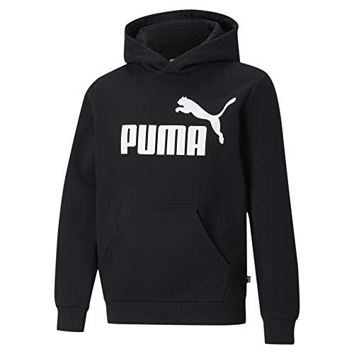 PUMHB|#Puma Ess Big Logo Hoodie FL B, Felpa Bambino, Puma Black, 116