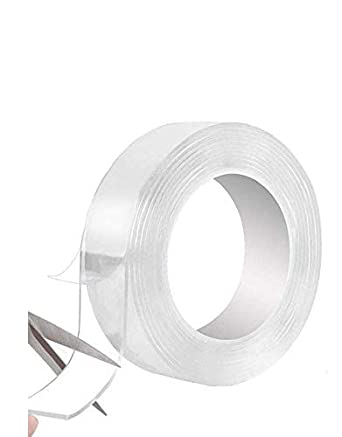 SVE Super� Transparent Traceless Double Sided Tape Nano Washable Adhesive  Tape Reusable Anti-Slip Heavy Duty Double Sided Tape for Walls Kitchen  Carpet Fixing Photos Pasting (2M) : Amazon.in: Home & Kitchen