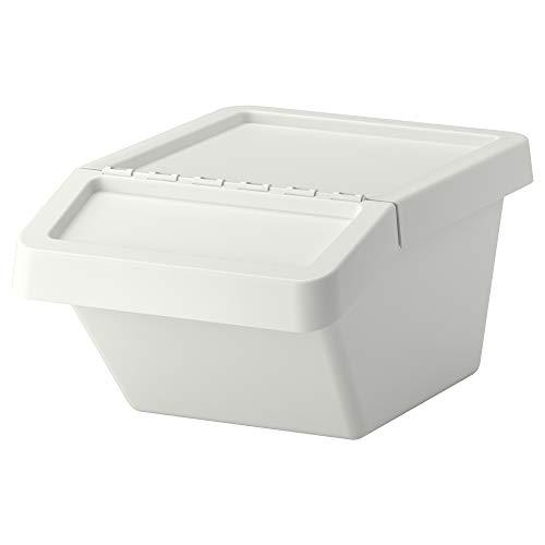 Sortera 102.558.97   Cubo de basura con tapa, color blanco
