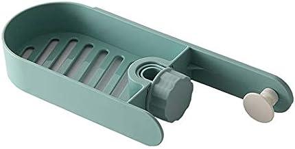 Opslag Rack Kitchen Sink Sponge Rag Bracket Rack Badkamer Keuken Clip vaatdoek Shelf Opslag Planken (Color : Green)