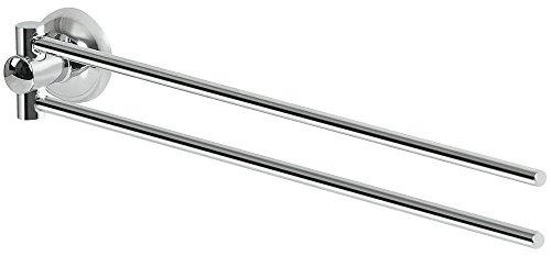 Spirella Kollektion Campagne, Handtuchhalter mit beweglicher Schiene 35 x 4,5 cm, verchromtes Metall, Grau, 35 x 4,5 cm