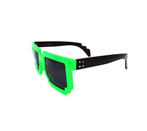 8-Bit Sunglasses-Grün/Schwarz-Plastik [Import]