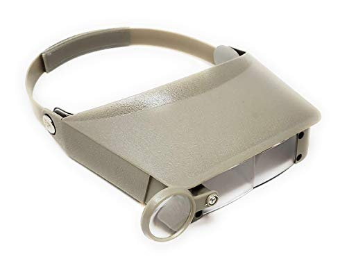 Excel Blades MagniVisor Headband Magnifying Glasses Head Mounted Headset Jewelry Visor Magnifier for Reading Electronics Watch Repair (1.8X, 2.3X, 3.7X, 4.8X)