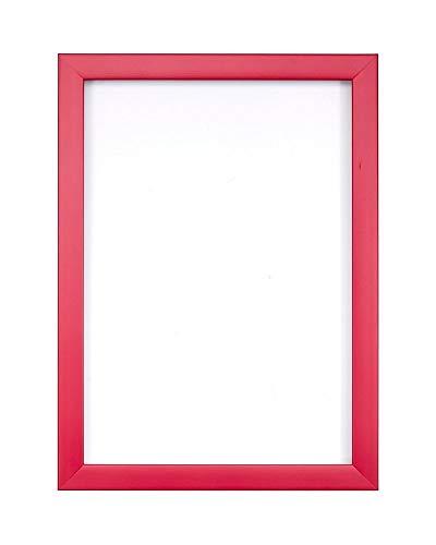 Rosa- A4 - Regenbogenfarbiger Bilderrahmen/Foto-/Posterrahmen -mit Einer Rückwand aus MDF - aus bruchsicherem Plexiglas aus Styrol für hohe Klarheit