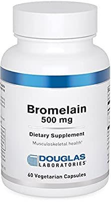 Douglas Laboratories - Bromelain - 500 mg - Supports Musculoskeletal System - 60 Capsules