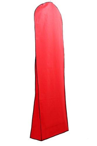 HIMRY® Sacca porta abiti traspirante, per vestiti da sposa / vestiti da sera / vestiti / giacche / cappotti , circa 180 cm, cerniera - Tasche per gli accessori - Marrone, KXB103 Brown