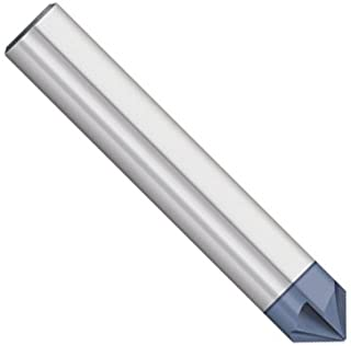 """1//2/"""" 4 FLUTE 90 DEGREE CARBIDE CHAMFER MILL TiALN COATED DOUBLE END"""