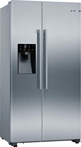 Bosch KAI93VIFP Serie 6 - Electrodomésticos americanos (ide/A++, 178,7 x 90,8 cm, 343 kWh/año, antihuellas, 380 L, 220 L, congelador, superrefrigeración)