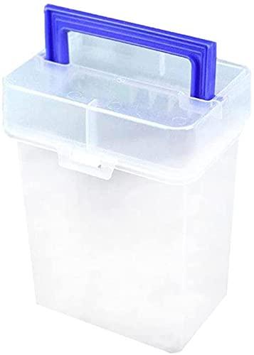 Qianglin Caja de papelería de plástico Transparente portátil con Base Desmontable, con asa y Tapa, Caja de Almacenamiento para Guardar Todo Tipo de bolígrafos (120 Colores)
