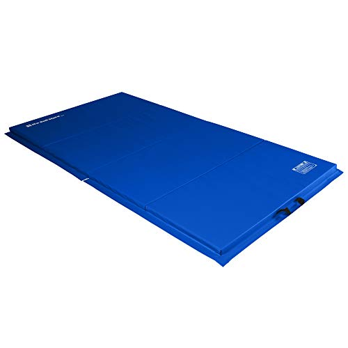 We Sell Mats 4 ft x 8 ft x 2 in Personal Fitness & Exercise Mat, Lightweight and Folds for Carrying, Blue