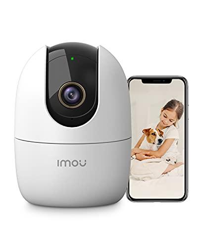 Imou 4MP Überwachungskamera Innen, WLAN Kamera Indoor, Intelligent Verfolgen mit Sirene, Zwei Wege Audio, KI-Personenerkennung, 360 Grad Schwenkbare, Kompatibel mit Alexa, 2,4Ghz