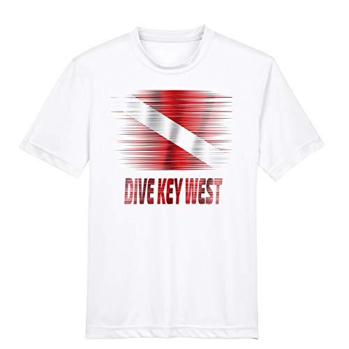 Makoroni - Dive Key WEST Scuba Diving Des#3 Men's Male Short Sleeve T Shirt White