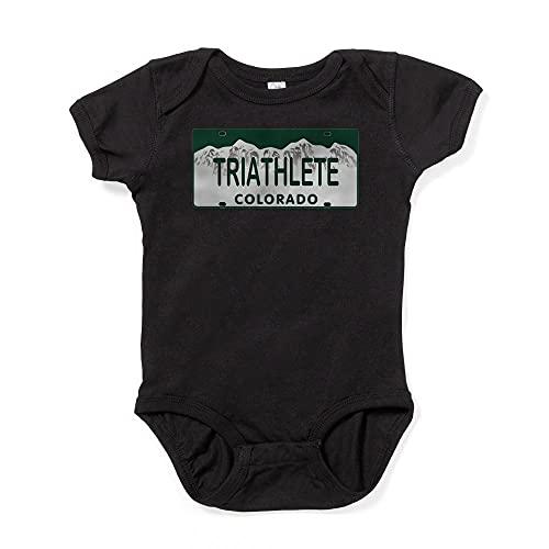 ABADI Triathlete Colo License Plate Infant Bodysuit Baby Bodysuit White