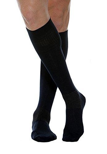 MAXAR Zwart Katoen/Zilver Comfort/Diabetes Unisex Sokken Small Zwart