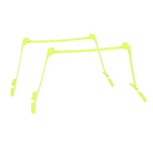 2 Stück Geschwindigkeitshürden, Fußball Fußball Agilität Geschwindigkeitstrainingshilfen Einstellbare Hürden Gelb, extrem langlebig, Allzweck-Geschwindigkeitstraining, Beweglichkeit und plyometrische