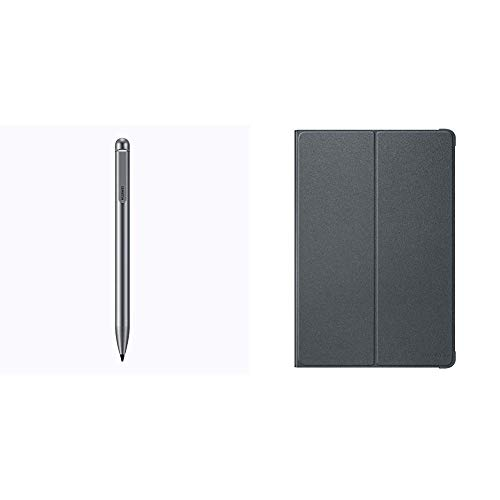 Huawei Creative Capacity Pen für Mediapad M5 Lite 10 Zoll Grau & Original Flip Cover für Mediapad M5 Lite 10 Zoll, Grau