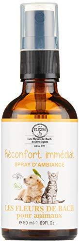 Les Fleurs de Bach pour Animaux BIO - Spray d'ambiance - Réconfort Immédiat - 50 ml