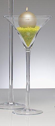 3x XXL Martiniglas Glas Kelch Riesenglas Glasvase Blumenvase Bodenvase riesig groß 50 cm