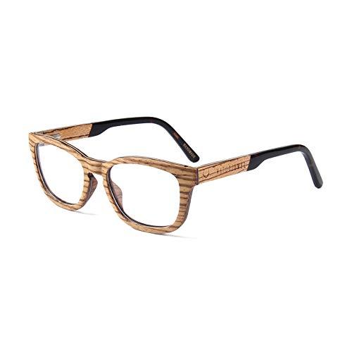 Naturjuwel Holz Lesebrille - Brillengestell Herren Damen braun Brillenfassung Brillenrahmen Optiker Holzbrille Brille mit klarer Linse