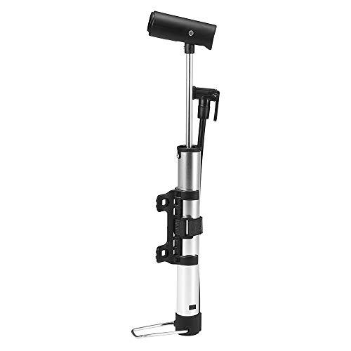 Lixada Pompa Mini Bici 120 PSI Gonfiatore per Biciclette con Impugnatura Pieghevole Foot Pad per Presta e Schrader Valve Cambio Manuale