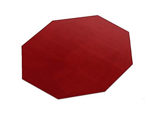 HEVO Romeo rot Teppich | Kinderteppich | Spielteppich 200 cm Achteck