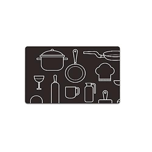 Colinas de alfombras de cocina de 2 piezas fijadas anti fatiga. CLORURO DE POLIVINILO Colinas de piso antideslizantes resistentes al aceite for la cocina de la cocina de lavandería cocinando con amor