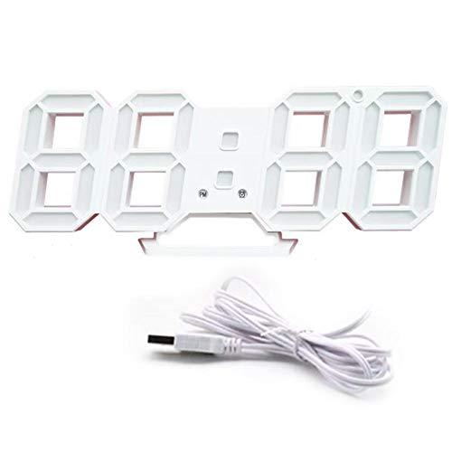 Led Digital Reloj De Pared 3D Diseño Jumbo De Más Números De Alarma De Reloj con La Función Completa 3 Niveles De Brillo