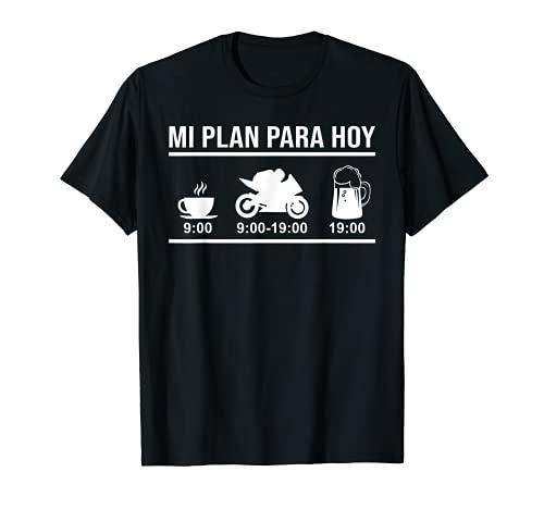 Regalo Motero Motociclismo Biker Mi Plan Para Hoy Moto Camiseta