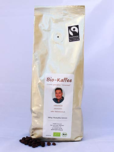 Ralf Moll säurearmer BIO-Gourmet-Kaffee, 1er Pack 500g gemahlen, fairtrade, creme paradiso
