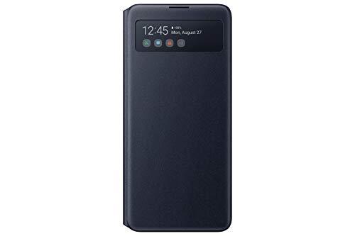 Samsung S View Smartphone Cover EF-EN770 für Galaxy Note10 Lite, Handy-Hülle, stoßfest, Schutz Hülle, integriertes Sichtfenster schwarz