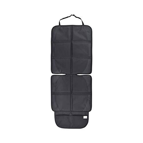 babyGO Kindersitzunterlage - Autositzschoner gegen Beschädigungen und Schmutz - ideal geeignet als Kindersitz Unterlage - Anti Rutsch Sitzschoner/Autositzschutz mit Netz zum Aufbewahren von Zubehör