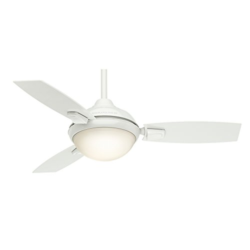 Casablanca Indoor/Outdoor Ceiling Fan with LED Light and remote control - Verse 44 inch, White, 59153