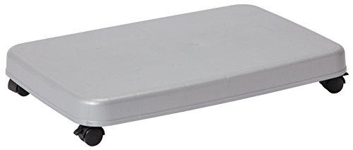 サンコープラスチック ファンヒーター用 平台車 キャリー 幅50.2×奥34.2×高7.7cm シルバー