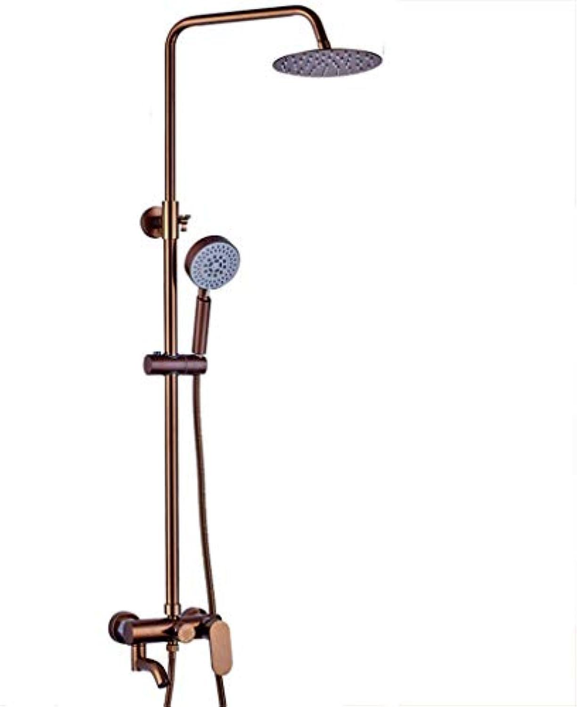 GWFVA Badezimmer-Brausebatteriesatz, Duschset, Space Aluminium, europischer Stil, Wandhalterung, Druckwasserhahn, Badezimmer-Brausegarnitur