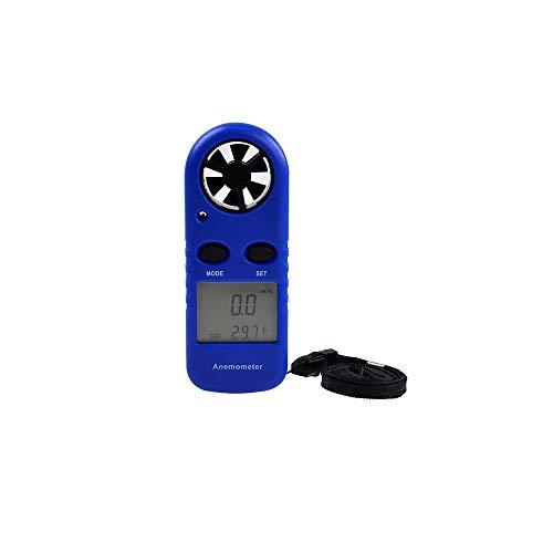 Dingziyue Anemometer tragbare Anemometer Mini Windgeschwindigkeit Meter Tester Windmesser (Color : Blue)