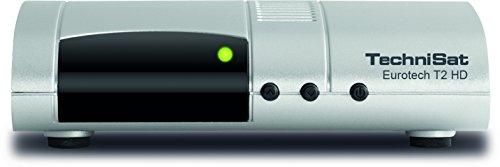 TechniSat EUROTECH T2 HD Digital-Receiver mit Single-Tuner für Empfang in HD, mit Multimedia-Player und Bicolor-LED-Display, silber