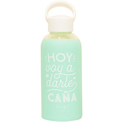 Mr; Wonderful Woa08624Es Botella De Cristal Para Que El Ritmo No Pare, Multicolor, 19.8X6.4X6.4 Cm