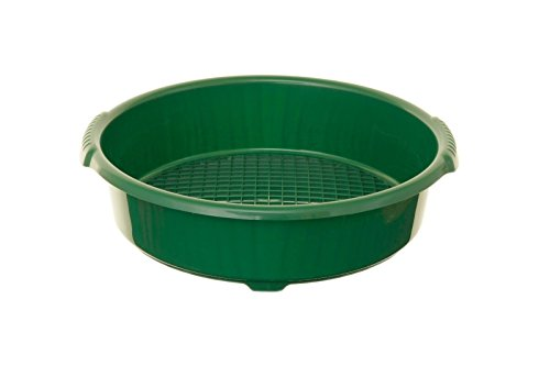 Whitefurze G25LS1grande resistente plastica Garden Sieve Riddle verde