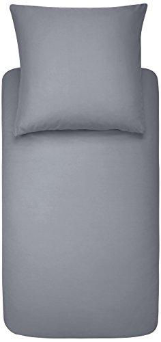 Amazon Basics Duvet Set, Dunkelgrau, 135cmx200cm