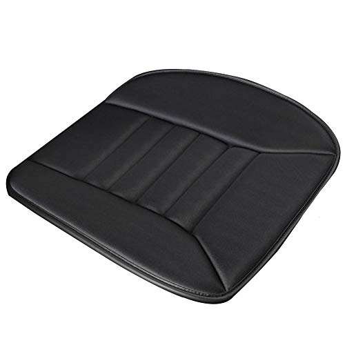 Car Seat Cushion, Memory Foam Heightening And Thickening Seat Cushion, Non-slip Car Massage Driver Seat Cushion (Color : Black)
