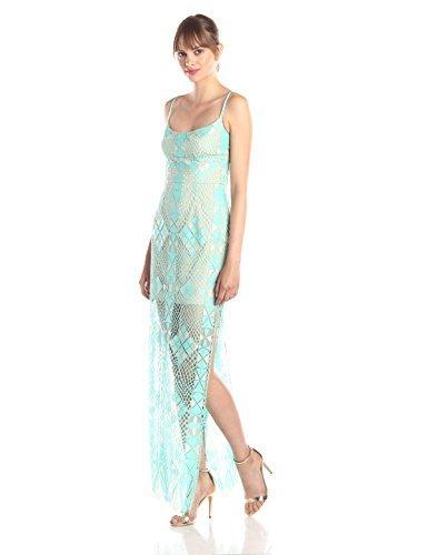 BCBGMAXAZRIA Vestido Bustier ajustado Evelina para mujer, Azul (Pool Blue Combo), 38