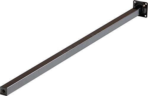 IB-Style - 4er Set Tischbeine/Möbelfüße ohne Befestigungsschrauben | 36 Variationen | 25 x 25 mm, Form: Rechteckig | schwarz | 70 cm - ohne Regulierschrauben